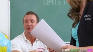 Preview 1 of InnocentHigh Nerd smalltits teen Remy Lacroix fucks teacher