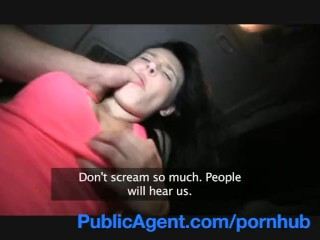 PublicAgent Timea looks great in underwear and sucking my cock.