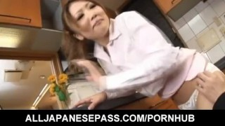 Japanese housewife gets fucked in her kitchen mother japanese milf asian oriental mom alljapanesepass dp