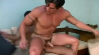 Bareback muscled latinos hunks riding