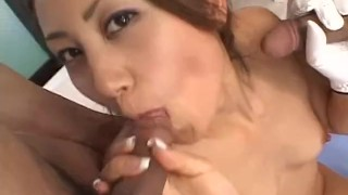 Cute Japanese babe takes on two cocks and pink balls  japanese milf alljapanesepass mother groupsex threesomes asian oriental mom