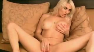 Gorgeous Blonde Fiddles her Clit HD Gangbang tits