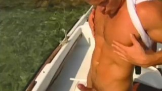 Muscular outdoors hunk solo outdoors