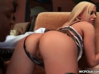 Tongue Kissing Close Up Fucking, Busty blonde gets her ass fucked and her face jizzed Big Dick