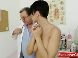 Crush Fetish Net Fucking, Big tits brunette nicolettA vaginA exam by doctor Babe Toys Euro