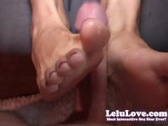 Lelu Love-Toe Sucking Footjob Cumshot