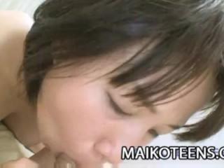 Japanese teen Natsuko Osanai getting ready for hard sex