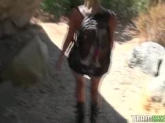 POVLife Blonde teen Casi James sucks fucks cock outdoors