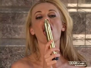 Anita Dark stripdease and wank with dildo - great quality