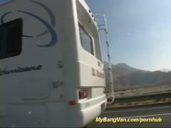 Babe gets fucked in my bang van