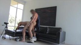 GayCastings Hairy hole gets pounded for his first time on camera...