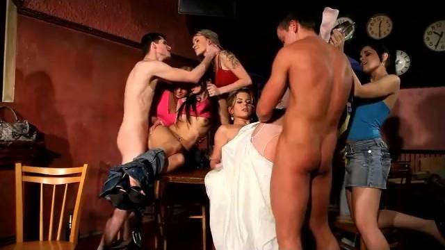 Cool Cfnm Hen Party At Prague Club With Sexy Teen Sandra As A Bride - Pornhubcom-4979