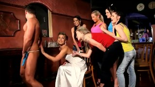 Cool CFNM hen party at Prague club with sexy teen Sandra as a bride  orgy young teens babes cfnm18 redhead femdom