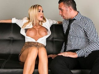 Sexual Recovery Center Company exec dreams about fucking his busty blond secretary Devon