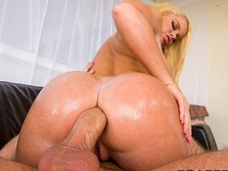 Sex In Bathtub Safe HOT blonde with a perfect ass is oiled up for rough anal