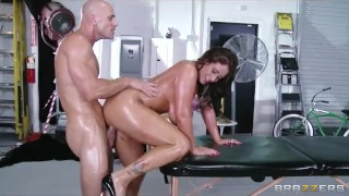 Busty MILF with huge-boobs Eva Notty Rides fucks her masseur