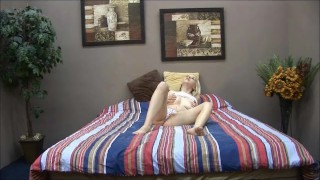 Sexy cute blonde teen masturbate with toy