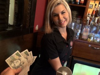 Stupid Phat Ass Gorgeous Blonde Bartender Is Talked Into Having Sex At Work