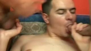 Horny threesome men gaymen sucking