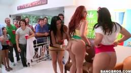 pornstars crash college party