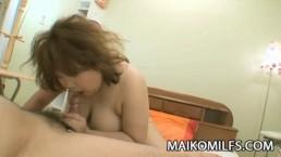 Chubby mature Japanese Kumiko Kaga getting her pussy teased
