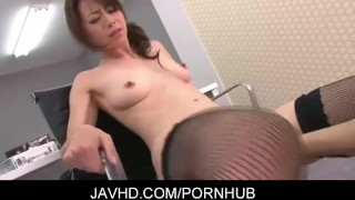 Japanese office lady Maki Hojo fucked hard  japanese hardcore ofiice lady mother stockings lingerie javhd mom