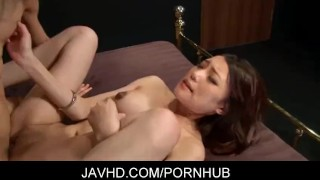 Gorgeous japanese babe Ibuki gets fucked in all kinds positions  japanese hardcore tit fuck shaved pussy javhd cum