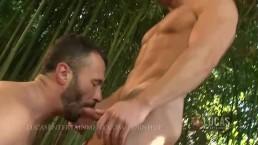 Hung straight gardner fucks gay jock in garden