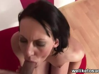 Vaginal Injections Fucking, Dick teasing brunette Blowjob Handjob