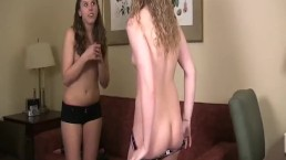 Mary and Amber Play Strip Darts