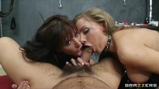Crazy HOT dominatrix starts a hardcore S&M threesome Euro hungarian