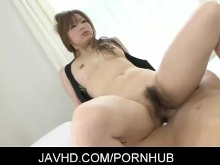 Alluring japanese babe Yukina Momose gets pounded hard