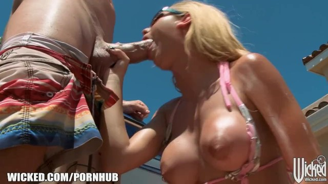 Picture brazilian bikini wax Dripping wet blonde jessie rogers gets hard dick at the car wash
