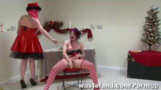 The Consequences Of Elf-Ware: A Wasteland FemDom Christmas!  domination holiday latina puerto rican adult toys sex toy elf bdsm tied dildo femdom