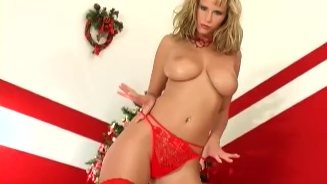 Fantasy lingerie christmas - Blonde milf does a christmas strip tease in lingerie and boots