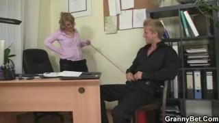 Office bitch enjoys riding his meat porno