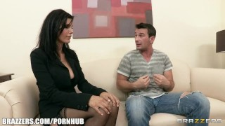 Preview 2 of Slutty brunette MILF Shay sights Seduces her neighbor