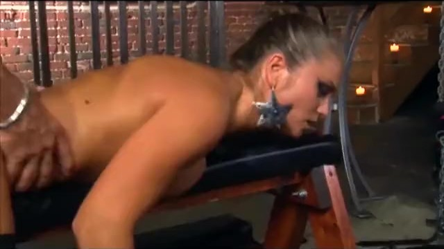 Ponytailed babe anal and deepthroat in ripped thigh high fishnet stockings