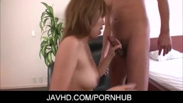 busty Asian babe in fishnet pussy fondled and double penetrated