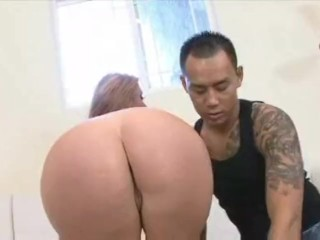 AMWF Sophie Dee interracial with Asian guy