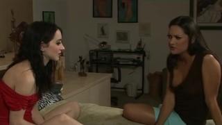 Skinny Lesbian Dominates and Spanks Naughty Friend