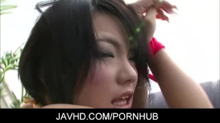 Asian chicl Haruna Katou Gets Fingered And Vibrated To Orgasm sex-toy japanese toys masturbation fingering adult-toys hairy-pussy