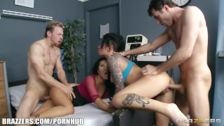 Groupie girl & hospital nurse start orgy with two band members  brunette uniform anal groupsex nurse doctoradventures ass fucking asian brazzers big dick