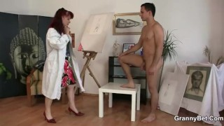 Cocks painting she hard and likes mature mom
