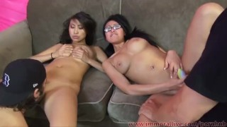 Jayden Lee & Sharon Lee Compete In Cock Sucking Challenge!