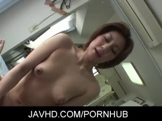 Naughty asian MILF pervert Mao Hosaka toying and banged hard