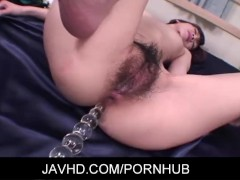 Hot asian gal Hanai Kanon enjoys some hottest anal beads