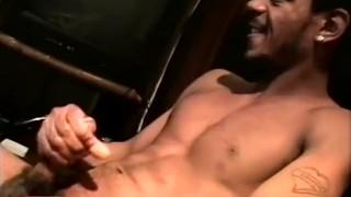 Thug his cock huge for us jerks jerking masturbation
