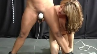 Scene bound interracial  whipping gag