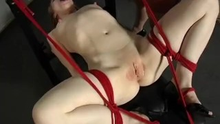 The Domination Of Madison Young - Scene 3  big tits high heels face sitting redhead dildo femdom canadian asian skinny busty vibrator stockings pornhub.com pussy licking fuck machine rope tied up